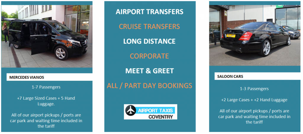 Taxi Transfers from Coventry to Birmingham Airport